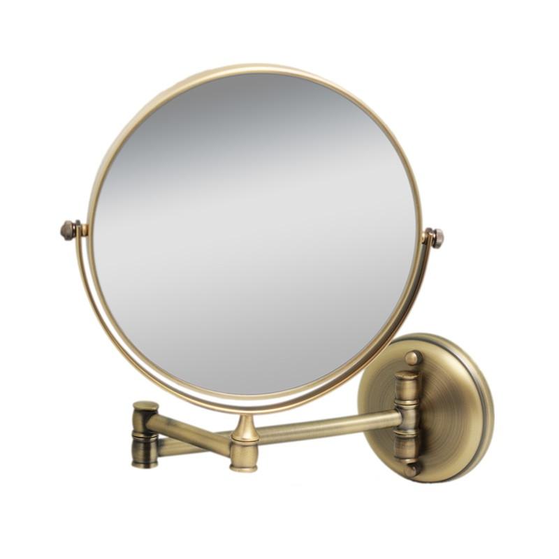 Зеркало Fixsen косметическое настенное двустороннее бронза